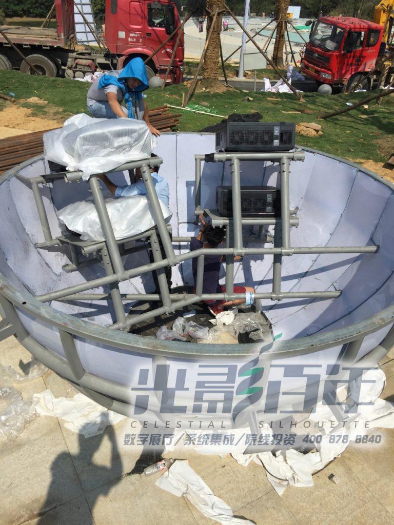 射电望远镜建筑投影案例
