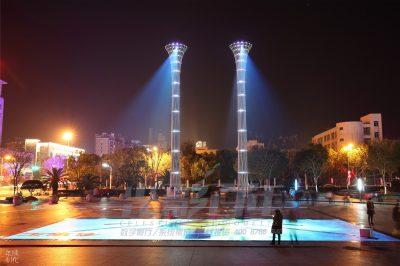 庆元市民广场——裸眼3D投影灯光秀