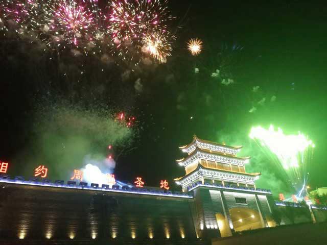 光影百年科技建筑投影案例-庆阳古城遗址