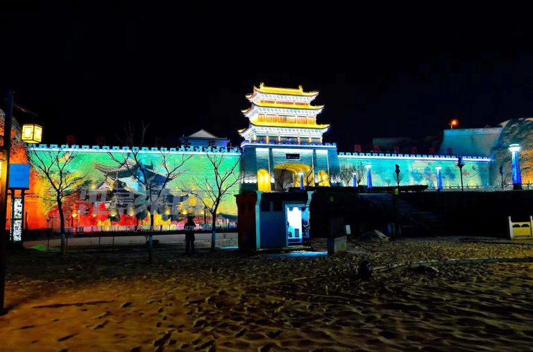 光影百年建筑投影案例--庆阳古城