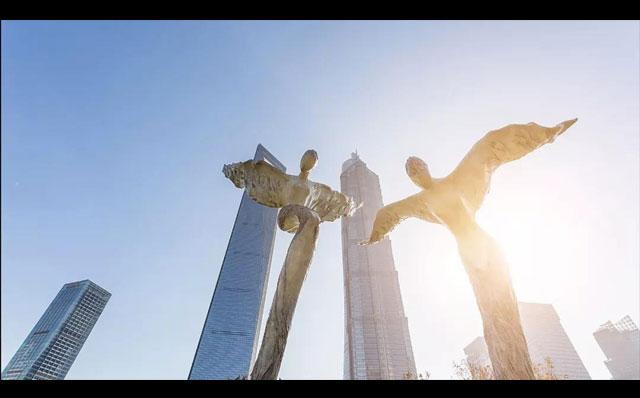 """户外雕像建筑投影案例--""""回响绿洲"""""""