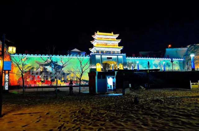 庆阳古城投影案例