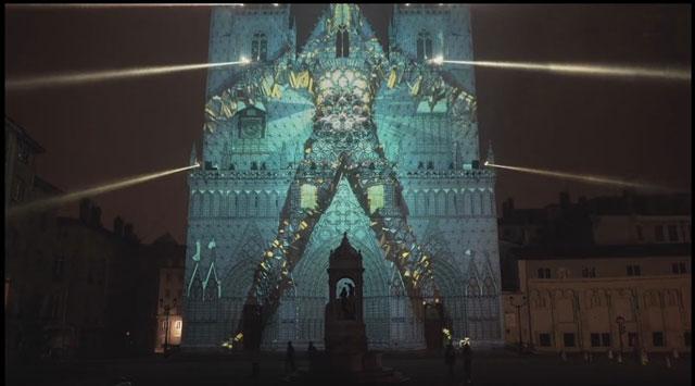 法国里昂建筑投影灯光秀